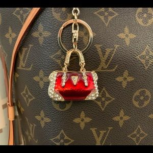 Handbags - NWT mini red purse bag charm 'keychain